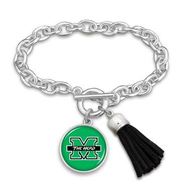 Marshall University Tassel Bracelet