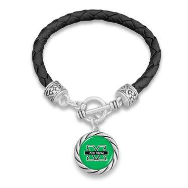 Marshall University Rope Leather Bracelet