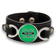 Marshall University Leather Bracelet