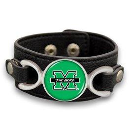 Marshall University Leather Bracelet