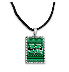 Marshall University Woven Logo Cord Necklace