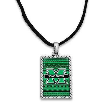 Marshall University Woven Logo Cord Necklace