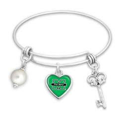 Marshall University The Herd Heart Bangle