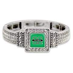 Marshall University The Herd Geometric Square Stretch Bracelet