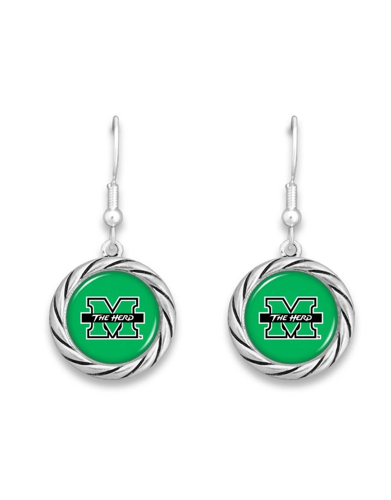 Marshall University The Herd Rope Earrings