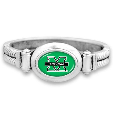 Marshall University Cuff Oval Bangle