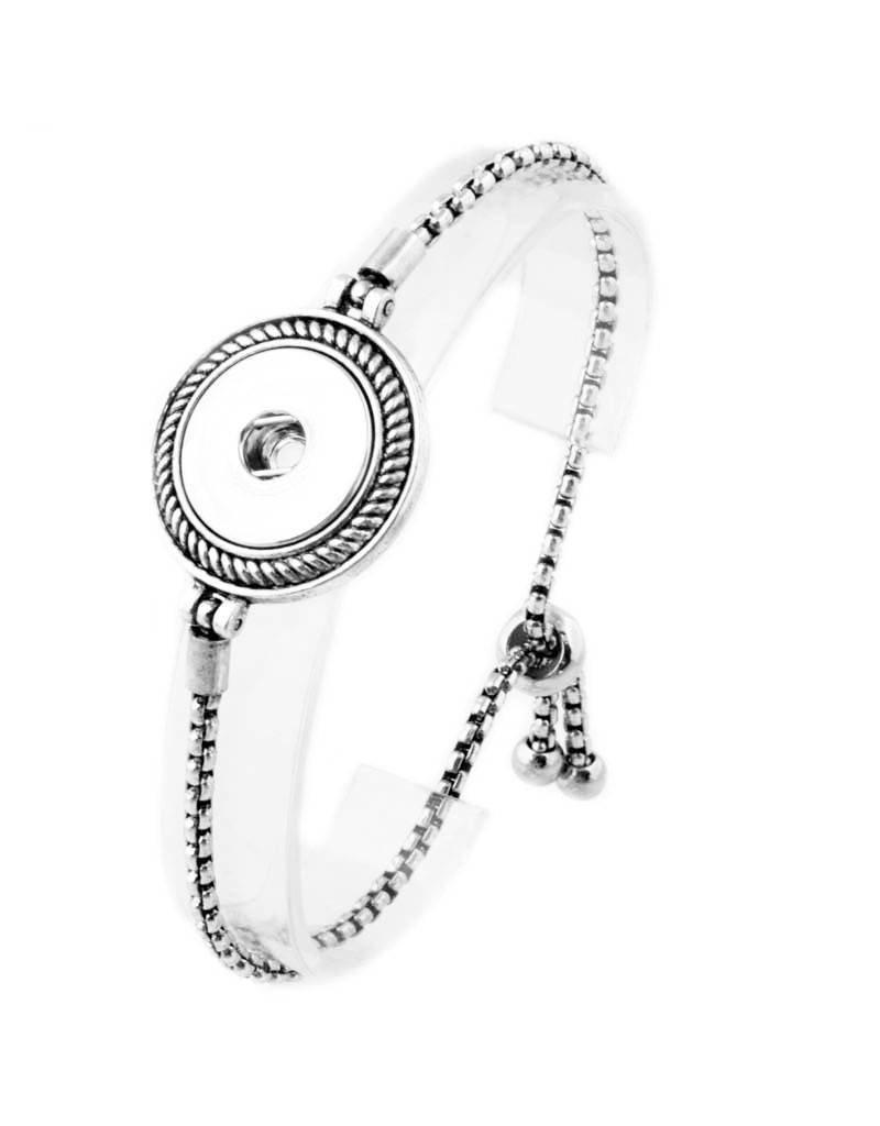 Adjustable Slider Snap Bracelet
