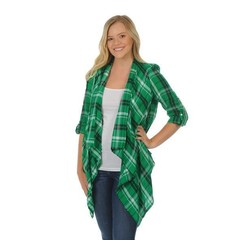 University Girls University Girls Marshall University Plaid Cardigan