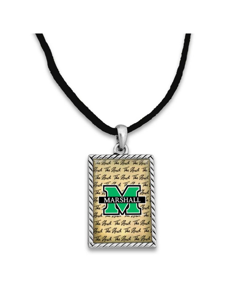 Marshall University Script Logo Necklace
