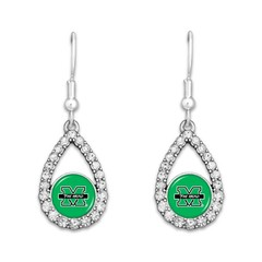 Marshall University Teardrop Earrings