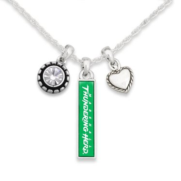 Marshall University The Herd Bar Necklace