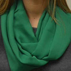 Solid Big Green Infinity Scarf