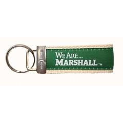 Marshall University Web & Ribbon Key Chain