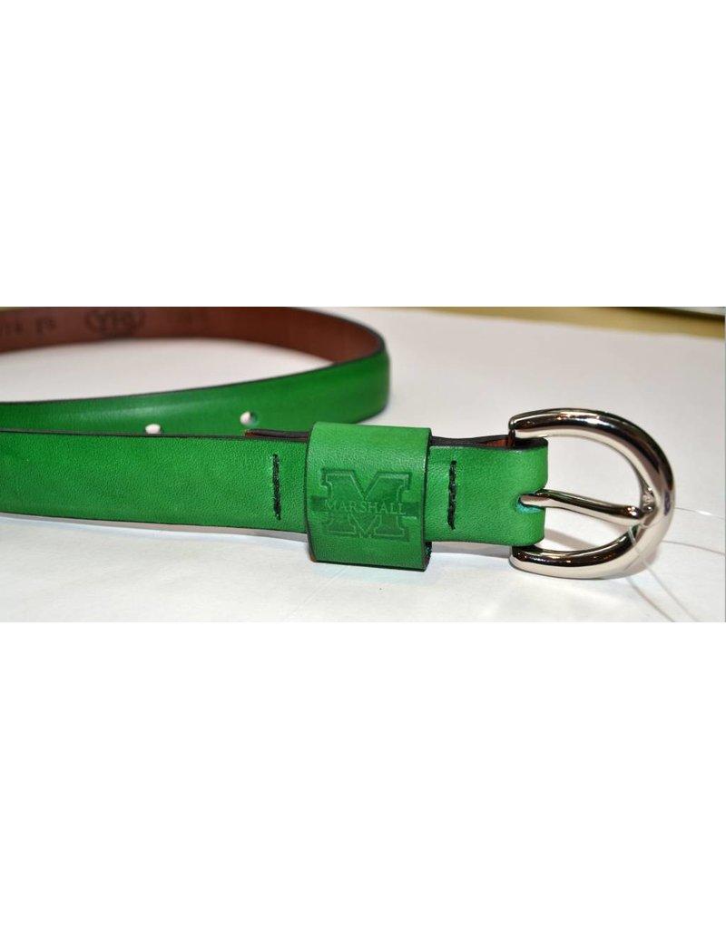 Marshall University Ladies' Embossed Leather Belt