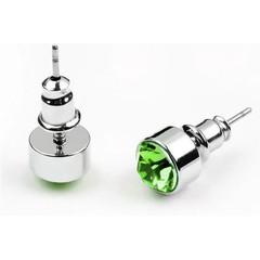Green Crystal Stud Earrings