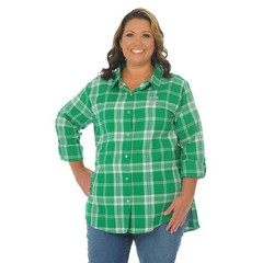 University Girls University Girls Marshall University Plus Boyfriend Plaid Shirt