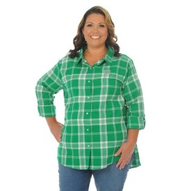 UG Apparel University Girls Marshall University Plus Boyfriend Plaid Shirt