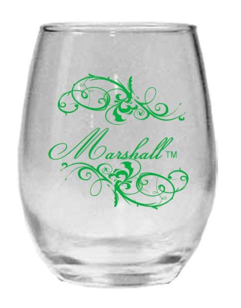 Marshall University 15 Oz Stemless Wine Glass