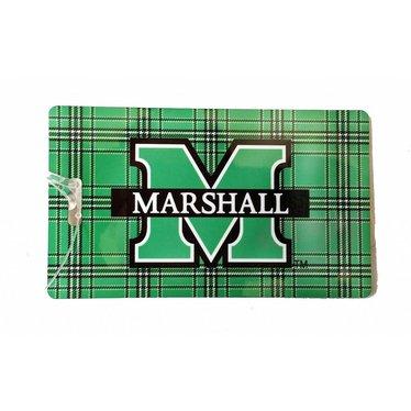 Collegiate Tartan Marshall University Tartan Luggage Tag