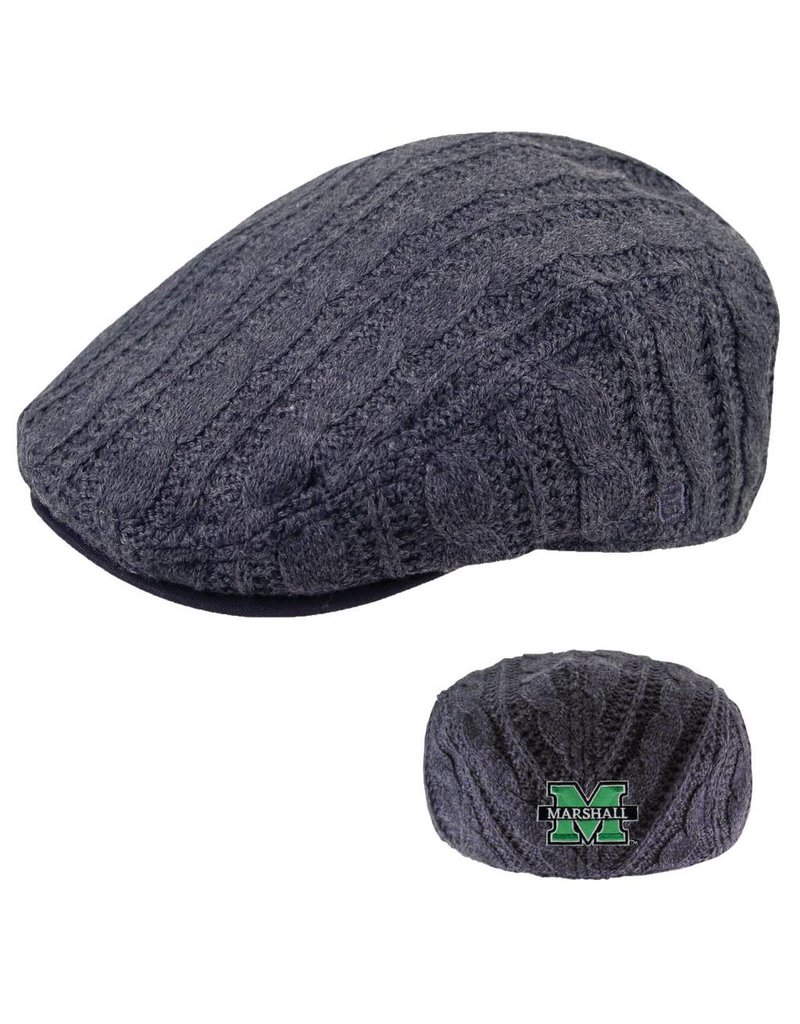 Marshall University Knit Porsche Driving Cap