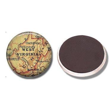 West Virginia Map Magnet