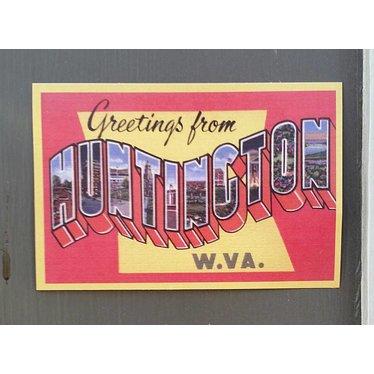 Greetings from Huntington Sticker