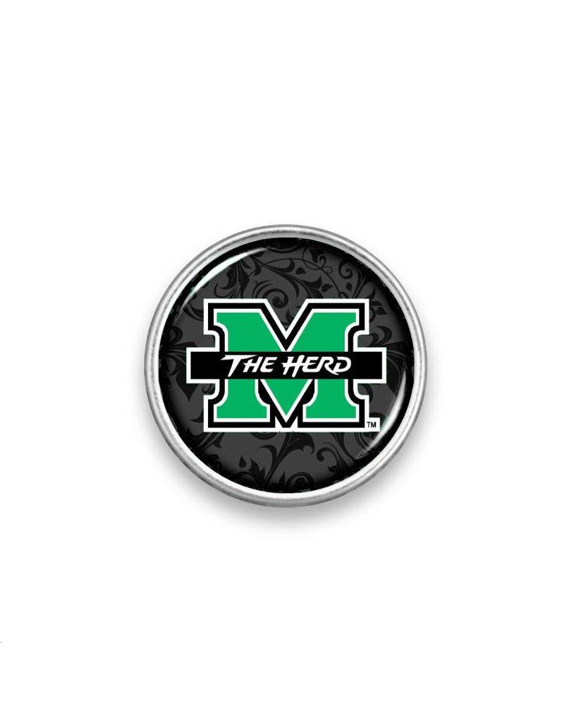 Marshall University Logo Snap-Black