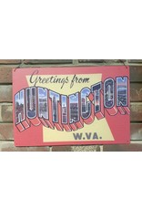 Greetings From Huntington Metal Sign