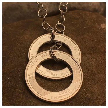 Making Cent$ Double State Quarter Necklace-Special Order