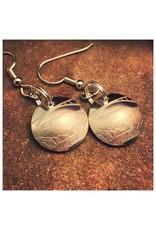 Making Cent$ WV Quarter Center Earrings- Silver