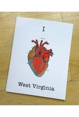 I Heart West Virginia Card