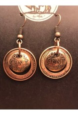 Making Cent$ Wheat Penny Earrings