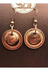 Making Cent$ Wheat Penny Earrings