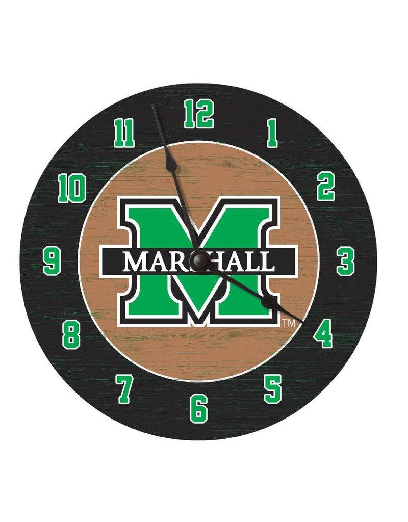 """Marshall University 12"""" Round Clock"""