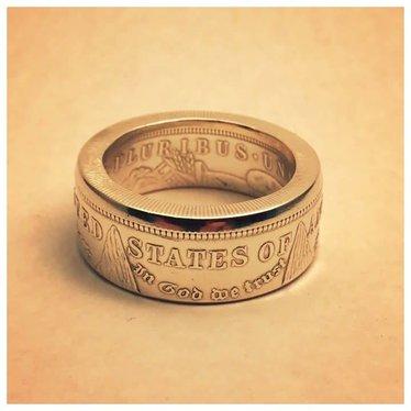 Making Cent$ USA 1921 Morgan Dollar Ring