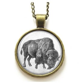 Antique-look Buffalo Necklace