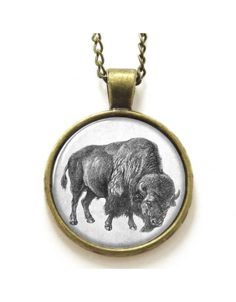 Antique-look Buffalo Necklace
