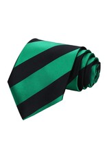 Green and Black Rep Stripe Tie