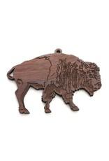 Black Walnut Wood Bison Ornament