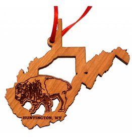 Black Cherry WV State Bison Ornament