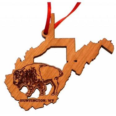 Black Cherry WV State Bison Ornament