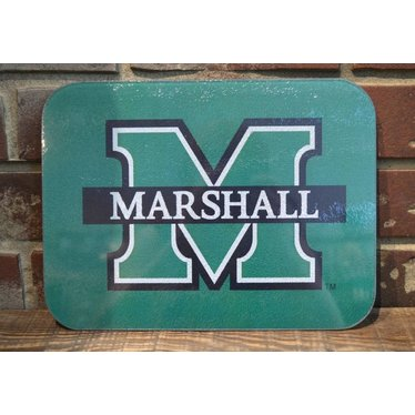 Marshall University Medium Glass Cutting Board