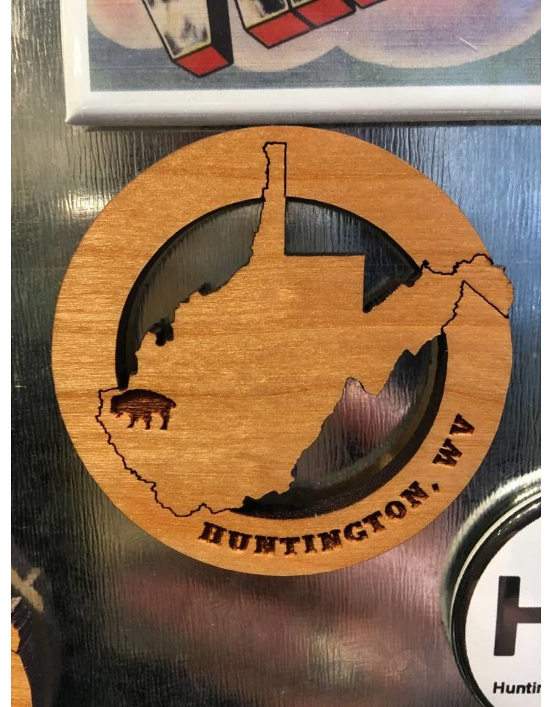 Black Cherry WV State Bison Magnet