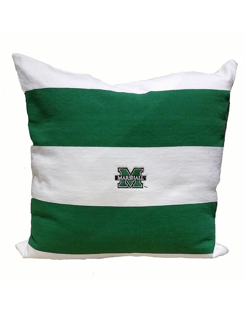 Marshall University Casual Stripe Rugby Pillow