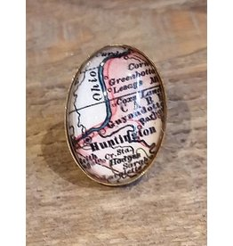 Huntington Map Lapel Pin