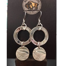 Making Cent$ WV Quarter Chandelier Silver Earrings