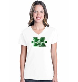 Marshall University Ladies Glitter Logo Tee