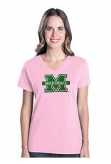 Marshall University Ladies Glitter Logo Tee