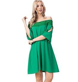 Crochet Off-Shoulder Dress