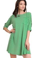 Stripe Cold Shoulder Tunic/Dress